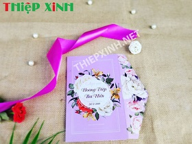 Thiệp peony violet - CH08